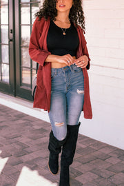 Burgundy Lightweight Jacket