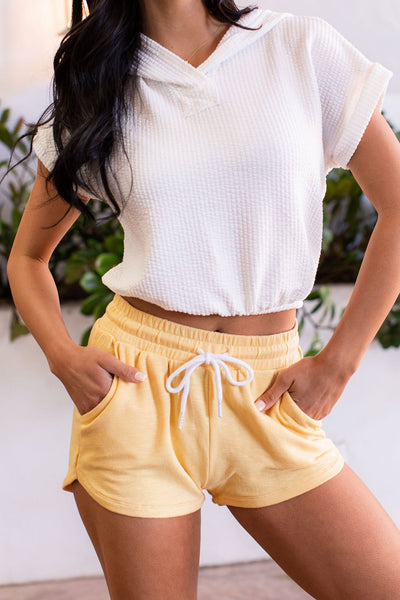 Yellow Lounge Shorts