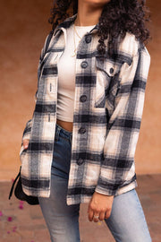Black and White Plaid Jacket