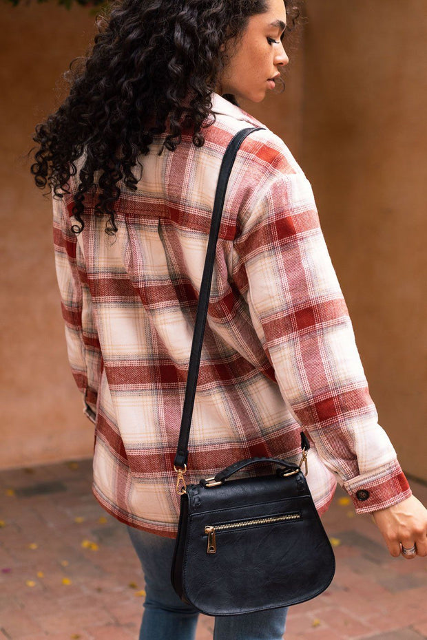 Dillon Rust Plaid Jacket