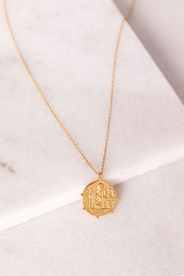 Dion Gold Coin Necklace