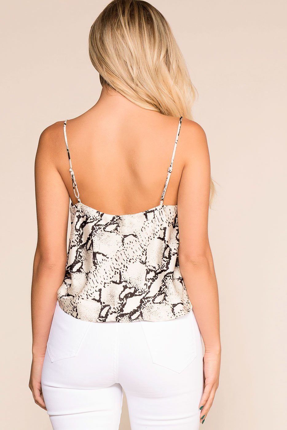 Priceless | White | Snakeskin Top | Womens