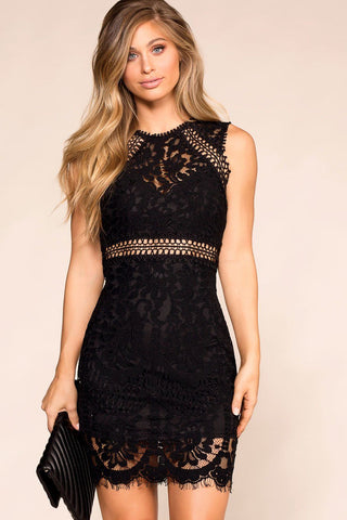 Heartbreaker Black Satin Bodycon Dress