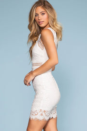Dreamstruck Lace Dress - White | Main Strip