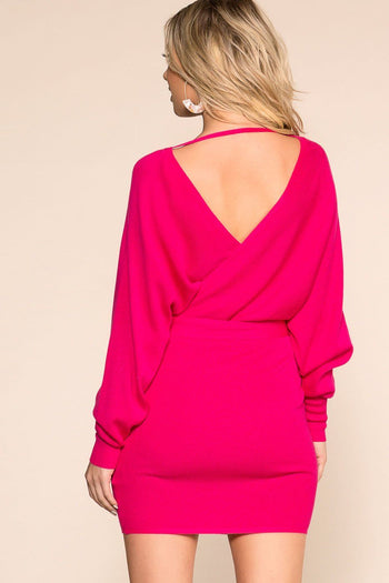 Priceless | Hot Pink | Wrap Dress | Womens