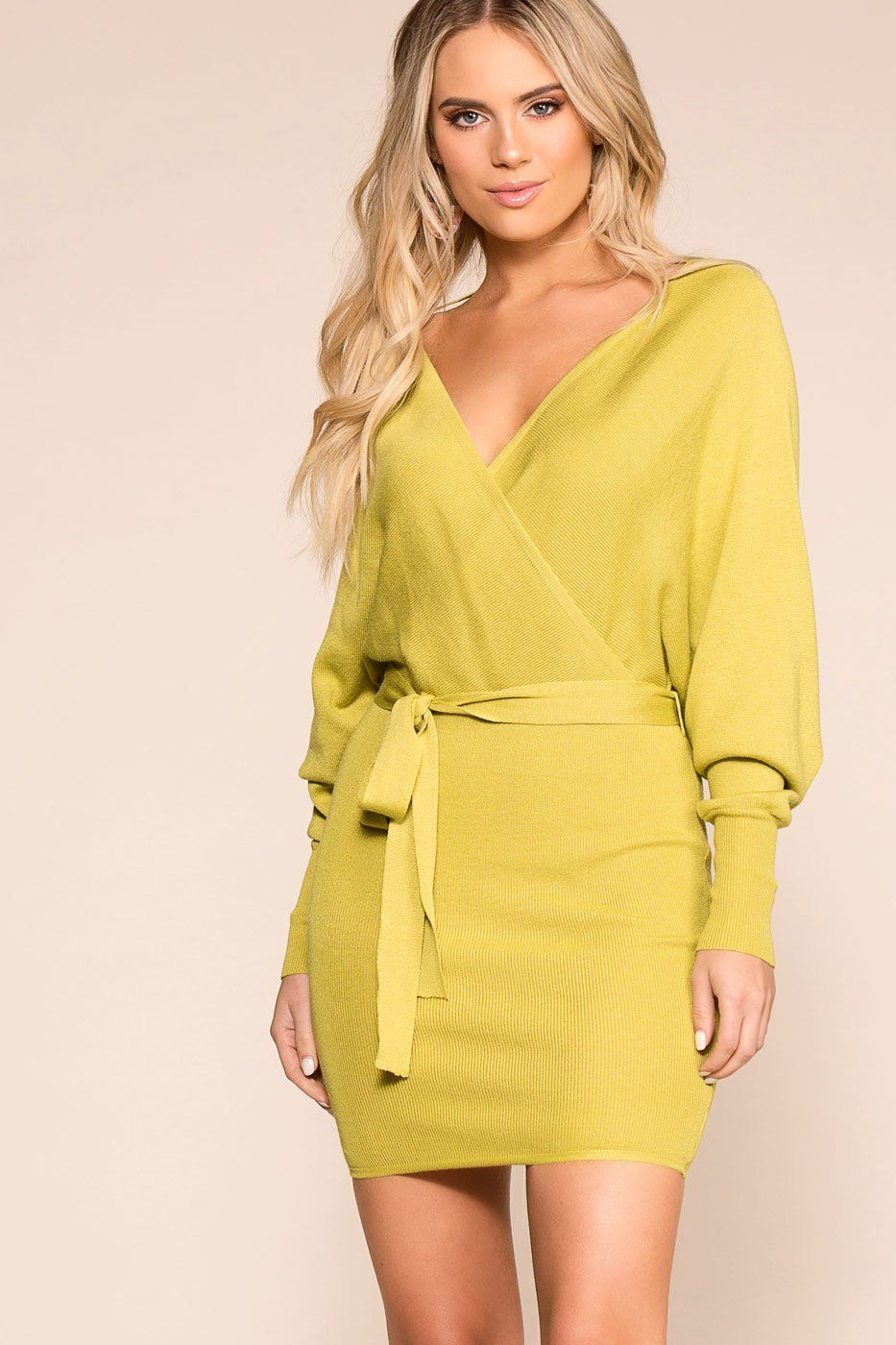Priceless | Lime | Wrap Dress | Womens