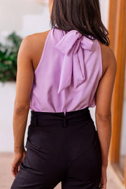 Lavender Tie-Back Top