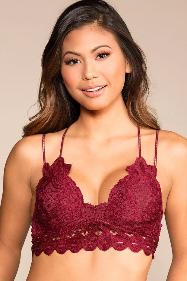 Priceless | Burgundy | Lace Bralette | Womens