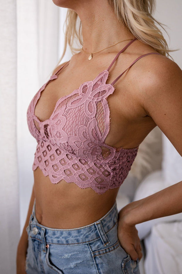 Dusty Mauve Lace Bralette