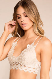 Ivory Lace Padded Bralette