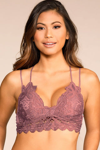 Hope Mauve Buttoned Crop Top