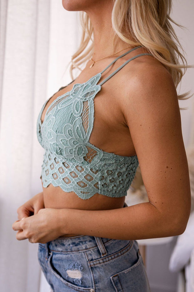 Light Teal Lace Bralette