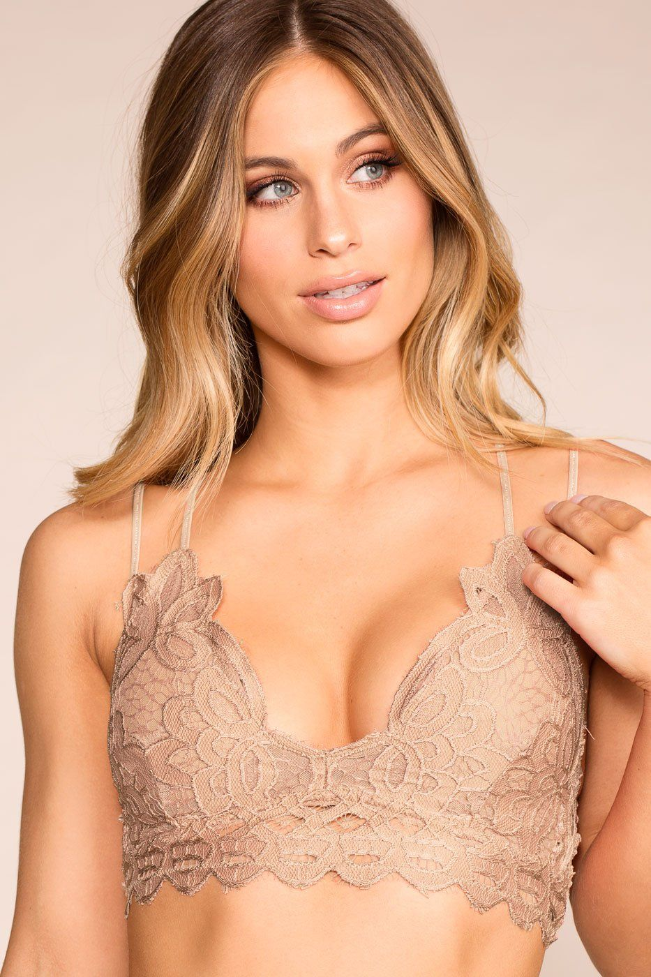 6b1db66d91865 Taupe Grey Lace Bralette Taupe Grey Lace Bralette ...