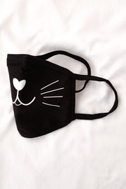 Black Cat Washable Fashion Face Covering