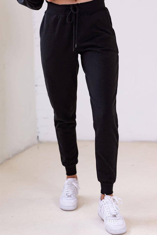 Faith Black Joggers