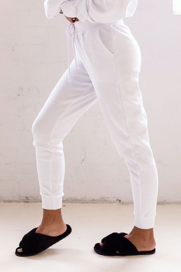 Faith White Joggers