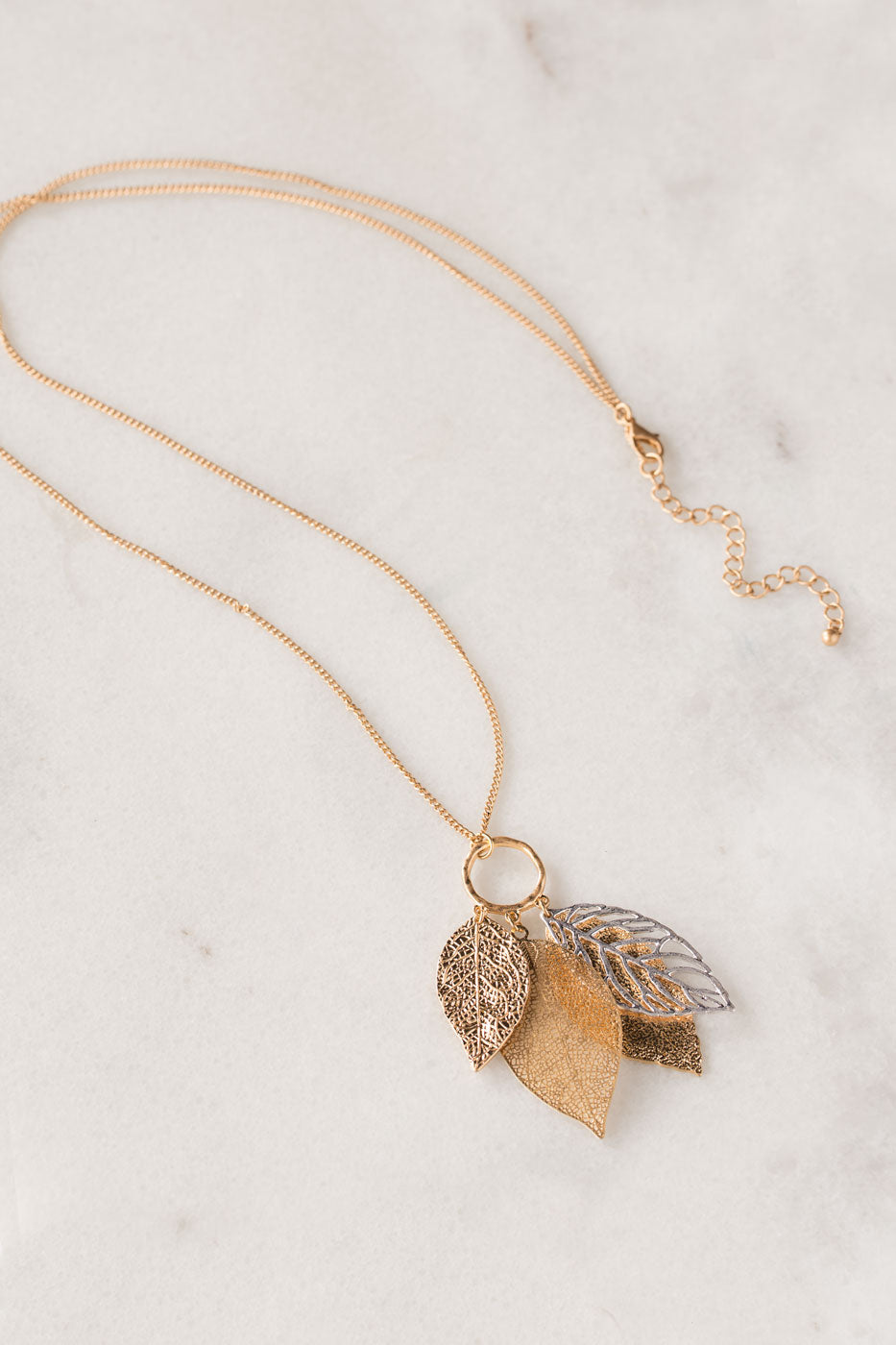 Falling Leaves Gold Necklace
