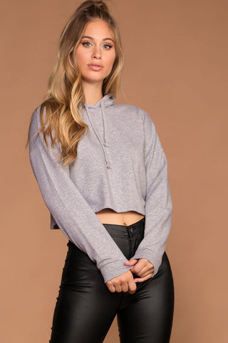 Jess Black Stripe Hoodie Crop Top