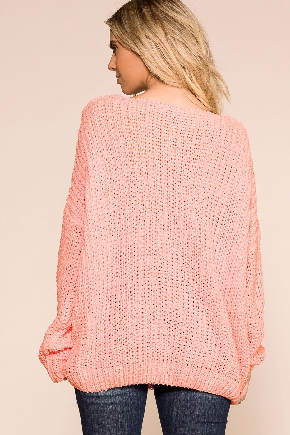 Priceless | Blush | Oversize Knit Sweater | Womens