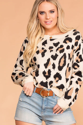 Krysha Navy Round Neck Long Sleeve Top