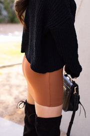 Coffee Pencil Skirt