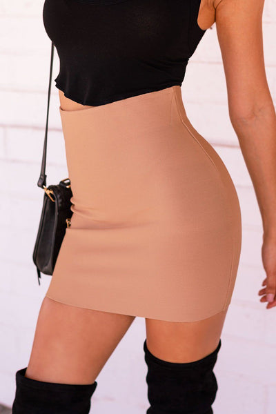 Khaki Pencil Skirt
