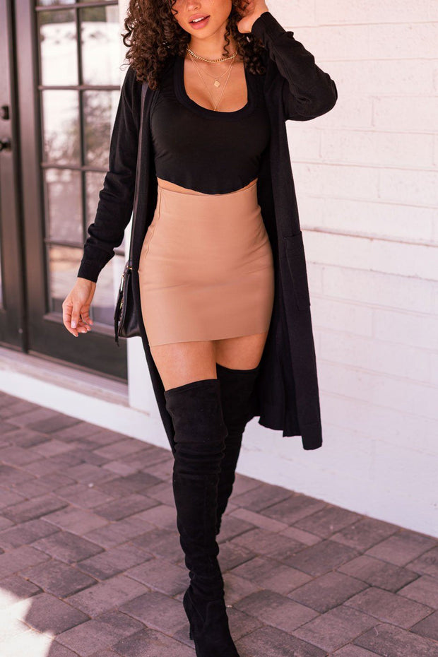 Fia Khaki Pencil Skirt