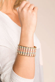 Priceless | Woven | Cuff Bracelet | Multi Colored | Accessory | Womens