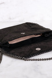 Fixed Up Black Chain Shoulder Purse