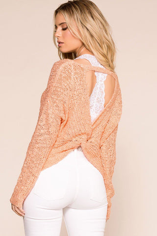Feeling Good Blush Oversize Knit Sweater