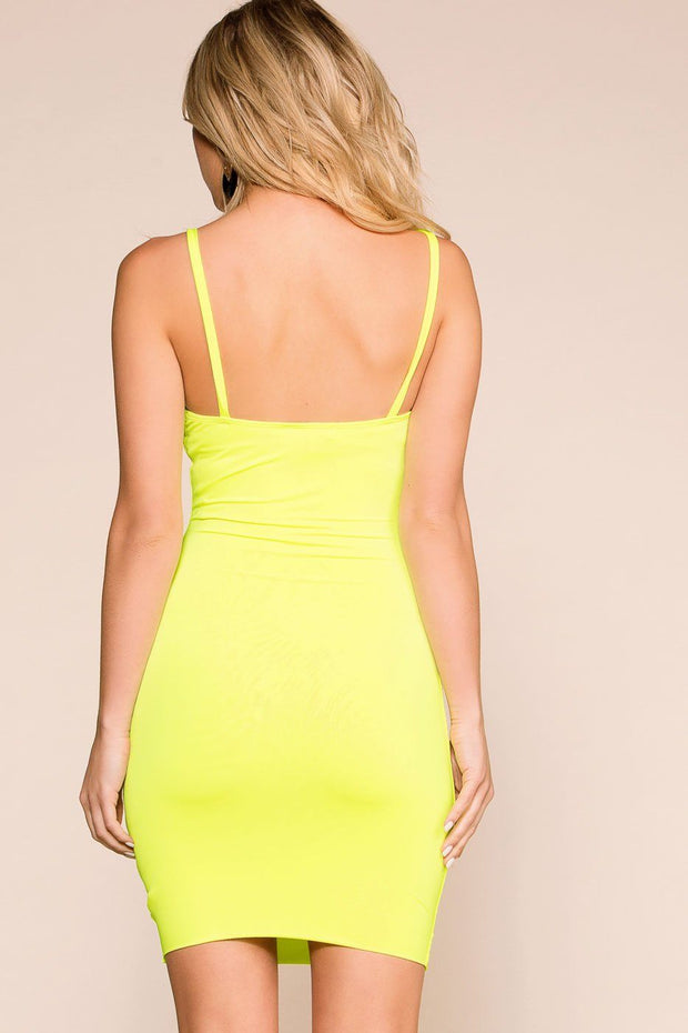 Neon Lime Bodycon Dress