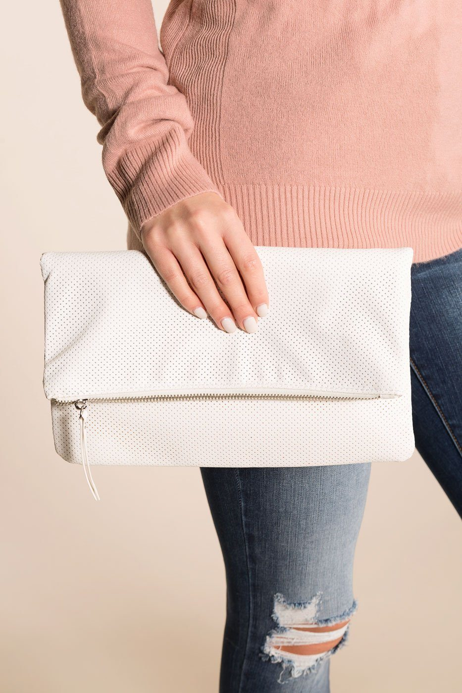 Priceless | White | Clutch | Womens