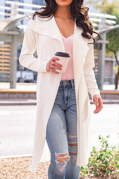 White Lightweight Trench Coat