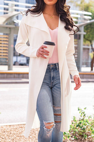 Baby It's Cold Ivory Plush Faux Fur Coat