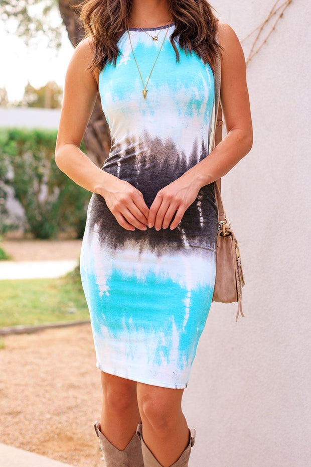 Mint Tie-Dye Midi Dress