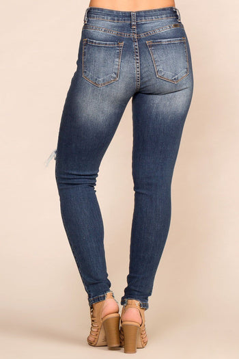 Pirceless | Dark Wash | Distressed Skinny Jeans | Womens