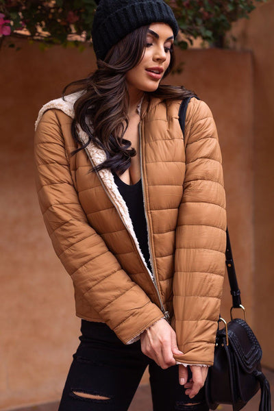 Camel Puffy Jacket