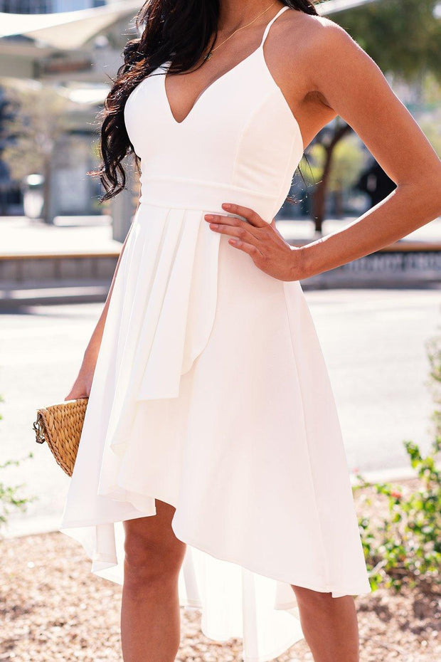 White High-Low Dress