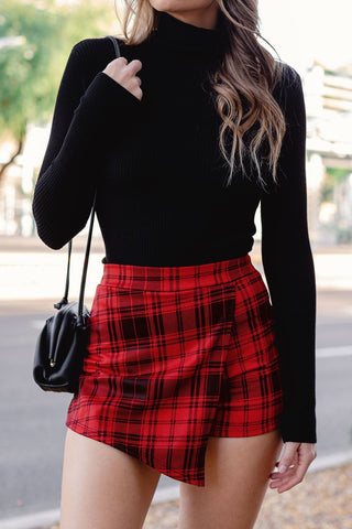 Talk To Me Black Mini Skirt