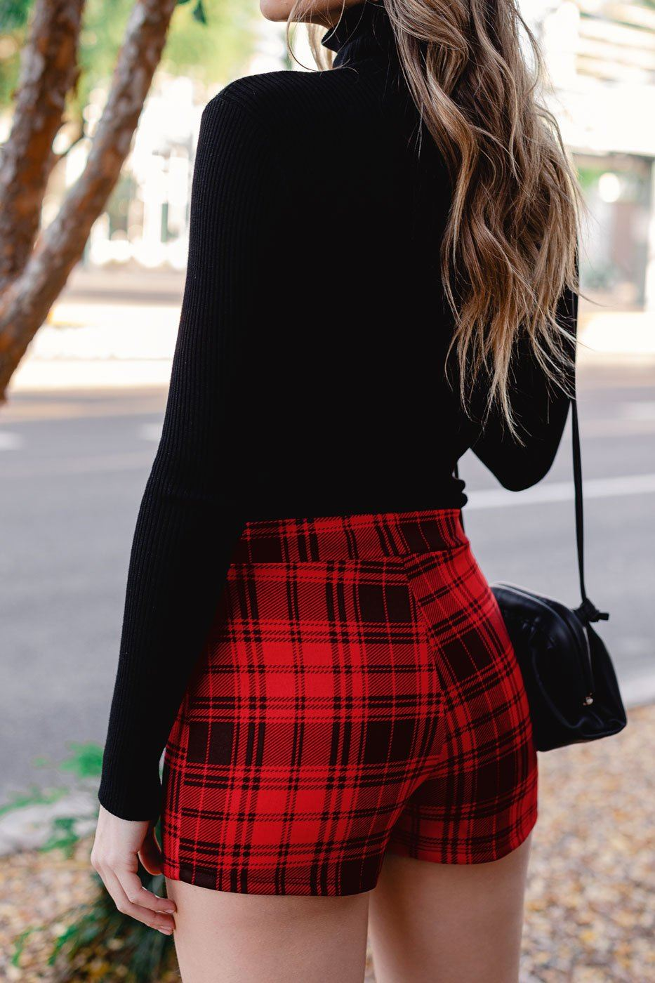 Red Plaid Skort