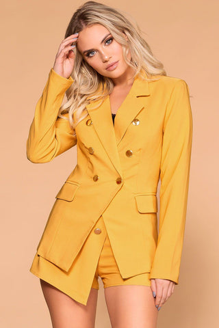 Tarrington Mustard Plaid Coat