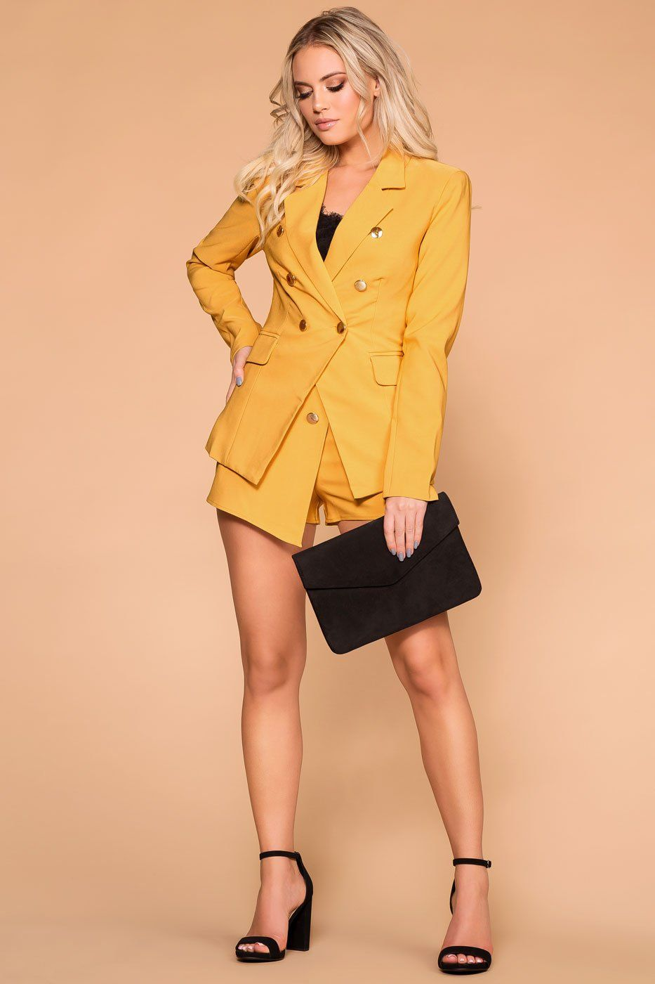 Priceless | Mustard Blazer | Business Casual | Womens