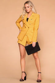 Mustard Blazer Business Casual
