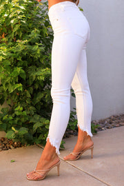 White Distressed Denim Jeans