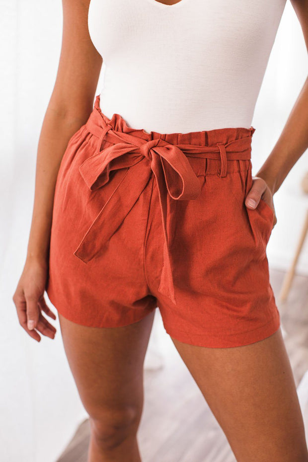 Rust Paperbag Shorts