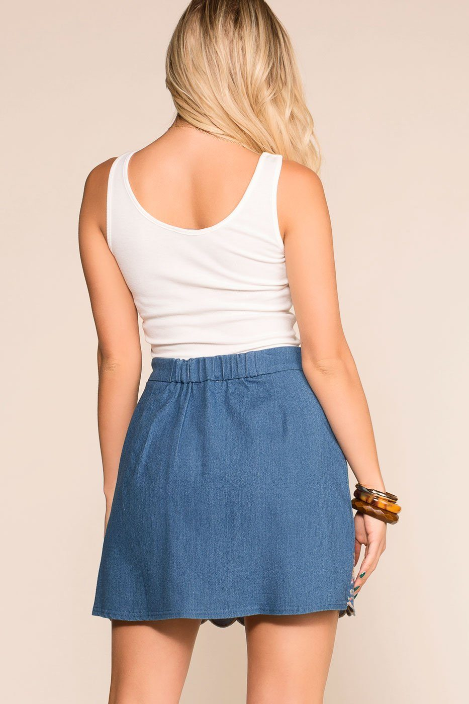 2a4472843 Priceless | Embroidered | Denim | Mini Skirt | Womens ...