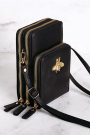 Gisele Black Crossbody Purse