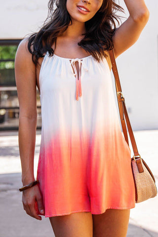 Daylight Mauve Button Tank Ribbed Top