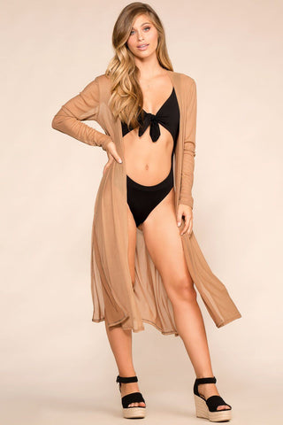 Work Your Magic Taupe Romper