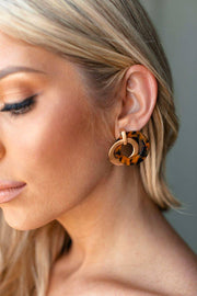 Go Around Gold and Leopard Earrings